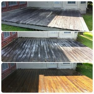 "Another successful ""before and after"" deck cleaning story!"