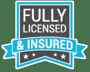 Fully Licensed & Insured Logo