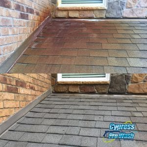 ROOF CLEANING Your roof keeps your home comfortable and protects your family from the elements. That said, taking care of it is essential. To improve the look of your home and give it the protection it deserves, contact Cypress Pro Wash today for unbeatable roof cleaning solutions! IMPORTANCE OF A CLEAN ROOF Not only does a clean roof look incredible, but it can also increase the value of your home, boost curb appeal, and so much more! Here at Cypress Pro Wash, we're the roof cleaning specialists! We're happy to provide roof cleaning services to residents in Cypress, Katy, Spring, and the entire surrounding area. As the Texas weather can be extreme, tons of dirt, leaves, and other debris can accumulate on your roof. This can cause your roof to wear down faster, which may lead to costly repairs or even a roof replacement. A clean roof can also substantially boost your home's curb appeal. While this can make your home look fantastic, it can also increase the value of your property. Protect your home and protect your investment by calling us today for roof cleaning services!