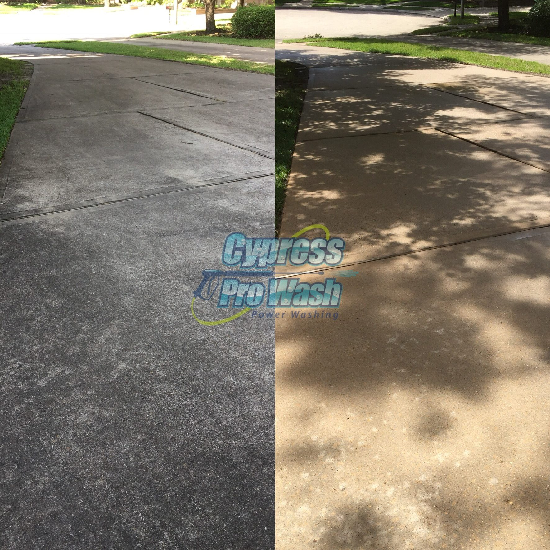 "DRIVEWAY CLEANING Make every aspect of your property count! Cypress Pro Wash provides concrete and driveway cleaning services that will turn your home into the definition of curb appeal. PRESSURE WASHING SOLUTIONS Think about the wear and tear that your concrete surfaces are exposed to in a day. Vehicles, people, the elements… These are surfaces that are constantly interacting with external factors. Our job is to restore your concrete to ""just like new"" condition. We use power washing to remove dirt, grime, algae, chewing gum, and more from your concrete and driveway. A good rule of thumb: If it doesn't belong there, our team will get rid of it safely and efficiently. We rely on the best commercial pressure washing equipment on the market and combine it with a special blend of cleaning agents. This allows us to loosen any unwanted debris and remove stains, discoloration and fading."