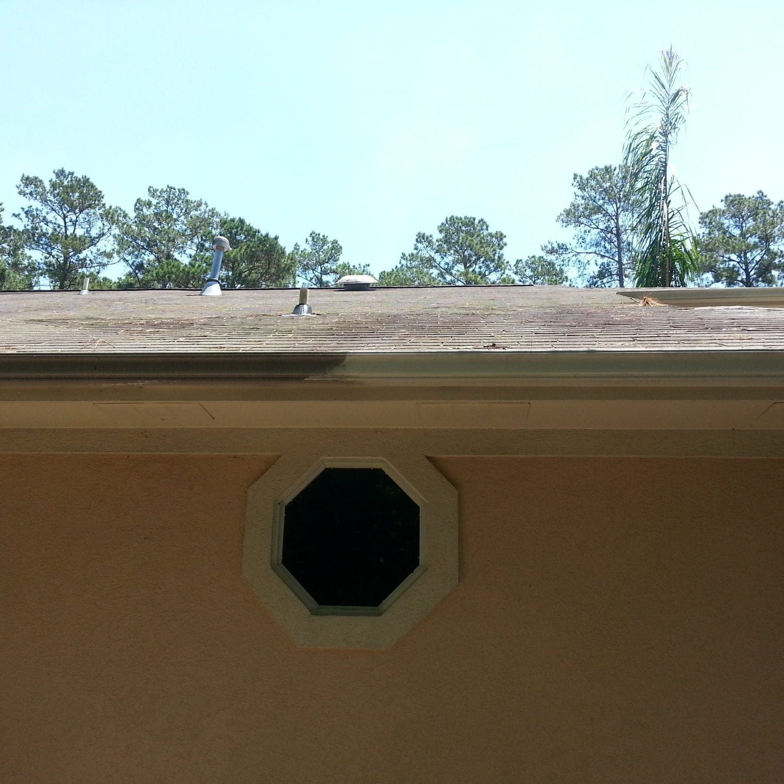 """GUTTER WHITENING Your gutters are clog-free and ready for action. You're prepared for any rainy day. But is your property's curb appeal up to snuff, too? With a gutter brightening solution from Cypress Pro Wash, the answer will always be """"yes!"""" WHERE PRACTICALITY AND CURB APPEAL MEET There's no denying it: your gutters are one of the most singularly functional aspects of your space. But that doesn't mean they should be at the expense of your property's curb appeal. Cypress Pro Wash offers a gutter brightening solution that will: Remove tiger stripes Our special cleaning products are designed to remove the """"stripes"""" of dirt and grime that run down the length of your gutter system. Lift away stains Dirt, pollen, and other imperfections are a thing of the past with our professional service on the job. Kill mold and algae These bacteria, plus mildew and moss, are a common sight on gutters. But we don't just remove them – we kill the spore growth."""